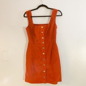 Urban Outfitters Overall Button-Down Dress